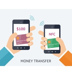Online money trasfer concept vector