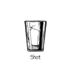 shot glass vector image vector image