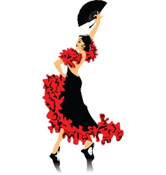 spanish dancing vector image vector image