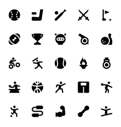 Sports and games icons 2 vector
