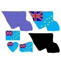 Tuvalu map vector