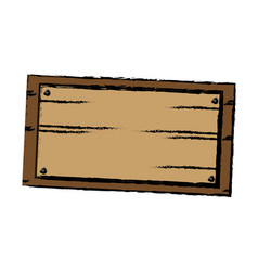 Wooden board old style blank icon vector