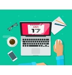 Calendar events planning management concept vector