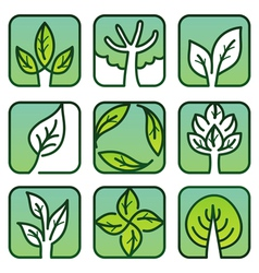 Eco labels - green nature signs vector
