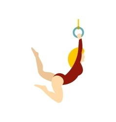 Gymnast icon flat style vector