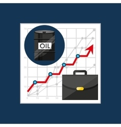 Oil and petroleum industry increasing graph vector