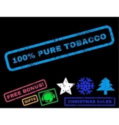 100 percent pure tobacco rubber stamp vector