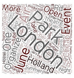 London open air events in june text background vector