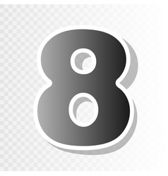 number 8 sign design template element  new vector image