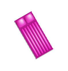 air mattress in purple design with shadow vector image