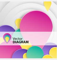 Diagram background vector