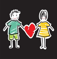 handdraw familija5 vector image