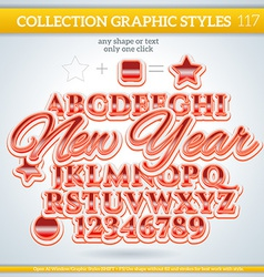 New Year Graphic Style for Design vector image
