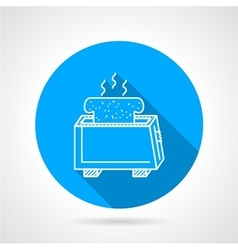 Line icon for toaster vector