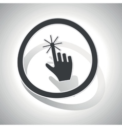 Curved touch sign icon vector