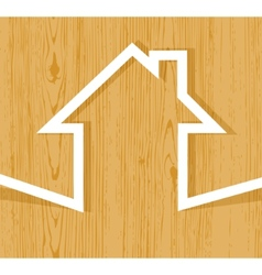 House wood origami vector