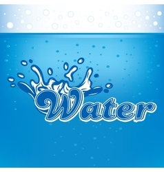Banner for advertisement with drops of water and vector