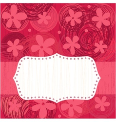 floral pattern seamless with banner vector image