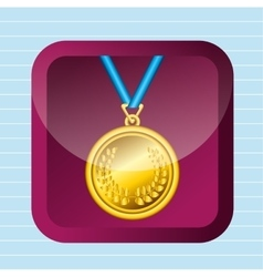 Olimpic medal design vector