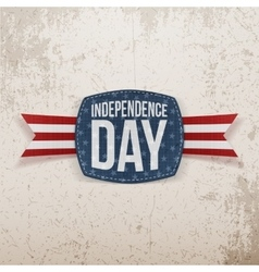 Independence day festive tag with type vector