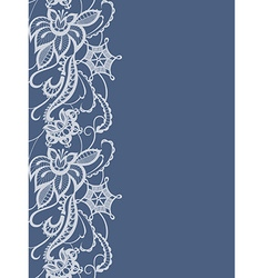 Abstract lace with elements of flowers and leaves vector image vector image