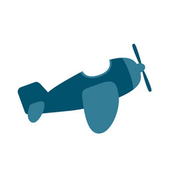airplane single engine icon image vector image