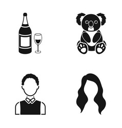 Alcohol profession and or web icon in black style vector