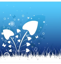 Beautiful grass vector image