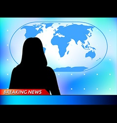 breaking news vector image