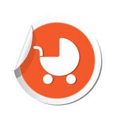 Carriage simbol orange tag vector