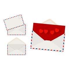 Envelope set on white background vector image
