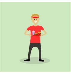 Fastfood seller vector