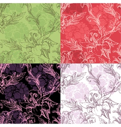 Flowers handdrawn 12 380 vector