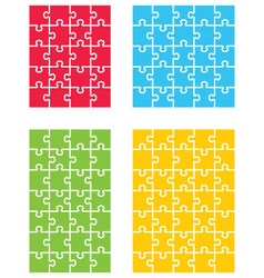 Four colorful puzzles vector