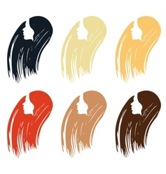 Hair colour palette vector image
