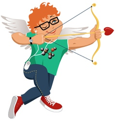 Hipster cupid vector