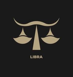 Libra Horoscope Icon vector image vector image