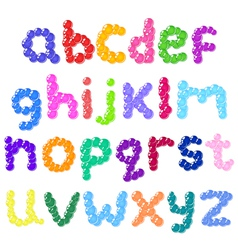 lower case bubbles alphabet vector image