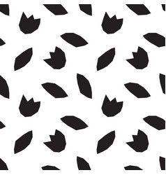 modern geometric flower pattern vector image vector image