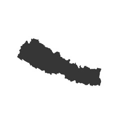 Nepal map silhouette vector