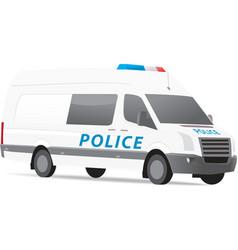 Police van vector image vector image