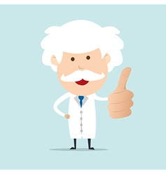 Professor show thumb up vector