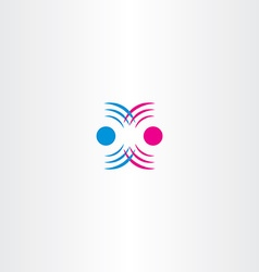 radio waves interference icon vector image vector image