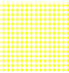 Seamless retro white-yellow square tablecloth vector image vector image