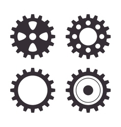 set gear wheel team work design isolated vector image