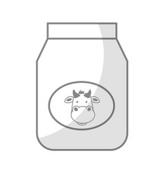 Shadow jar of milk graphic design vector