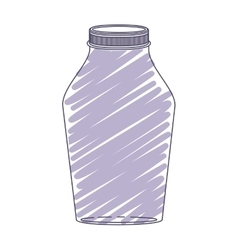 silhouette glass jar with purple stripes vector image