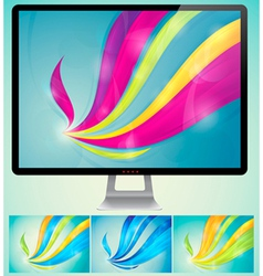Swirly Abstract Background vector image vector image
