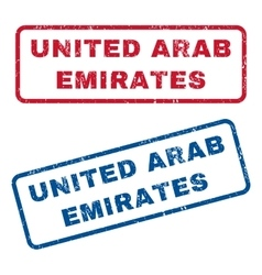 United arab emirates rubber stamps vector