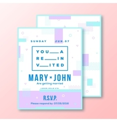 Wedding Invitation Card or Poster Template Modern vector image